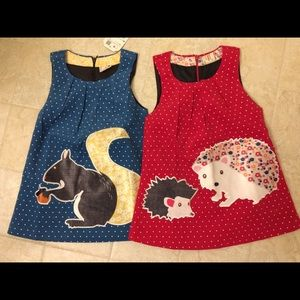 Other - Girls animal appliqué jumper dress bundle